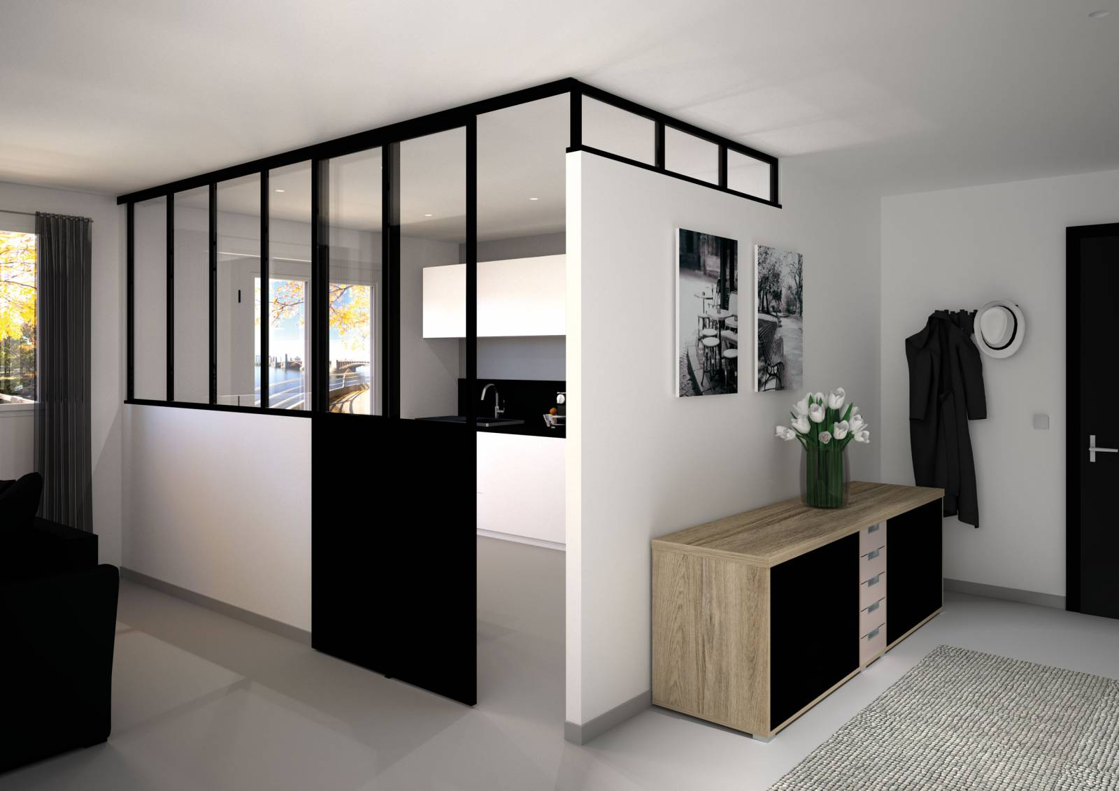 verri re sur mesure conception de cuisines allemandes libourne cuisiligne. Black Bedroom Furniture Sets. Home Design Ideas